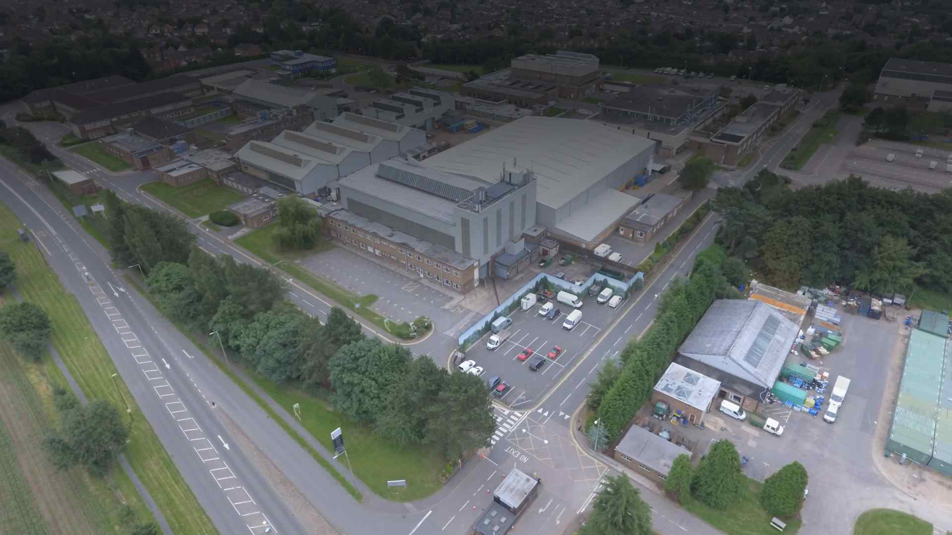 Site Arial View for Security Kings Burton on Trent security company 1